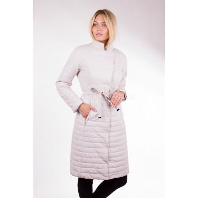 Пальто демисезонное женское Misun-G703 светло-бежевое