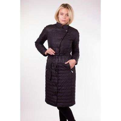 Пальто демисезонное женское Misun-G703 чёрное