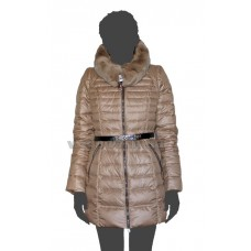 Куртка пуховая женская SnowImage SID-B315 бежевая