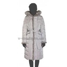 Пуховик женский SnowImage SID-B507 светло-серый