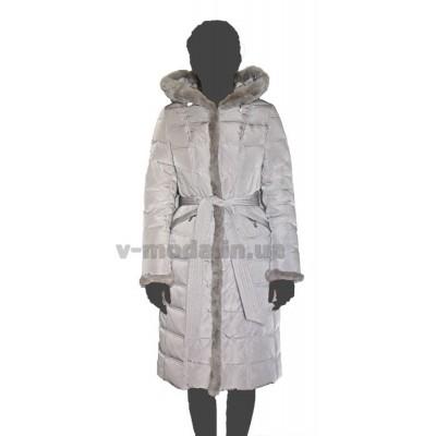 Пуховик женский SnowImage SID-B507светло-серый
