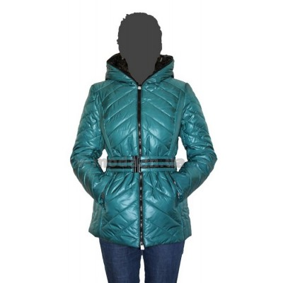Пуховик женский SnowImage SID-115-зеленый
