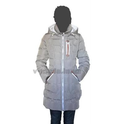 Пуховик женский SnowImage SID-M308 светло-серый
