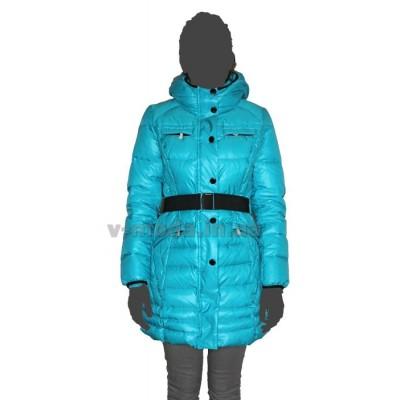 Пуховик женский SnowImage SID-542 бирюзовый