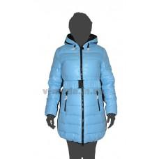 Пуховик женский SnowBeauty SNB-1306 черный