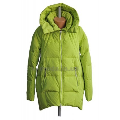 Куртка пуховая женская Sara Leona 108 лайм