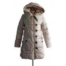 Куртка пуховик женская Sara Leona 487 бежевая