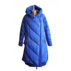 Пальто эксклюзивное женское Sara Leona 7019 синее