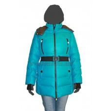 Куртка женская пуховая SnowImage SID-M314 бирюзовый