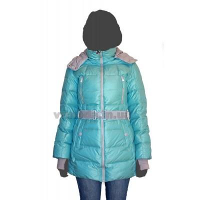 Куртка женская пуховая SnowImage SID-M-314 голубая