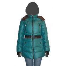 Куртка женская пуховая SnowImage SID-M314 зеленая